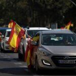 maşina protest Madrid