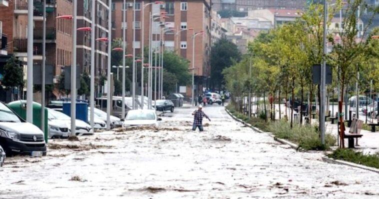 ciclonul Dana Spania
